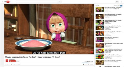 Russian Kids' Cartoon Breaks Youtube Record