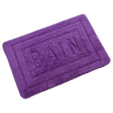 tapis de salle de bain 60x90 cm violet