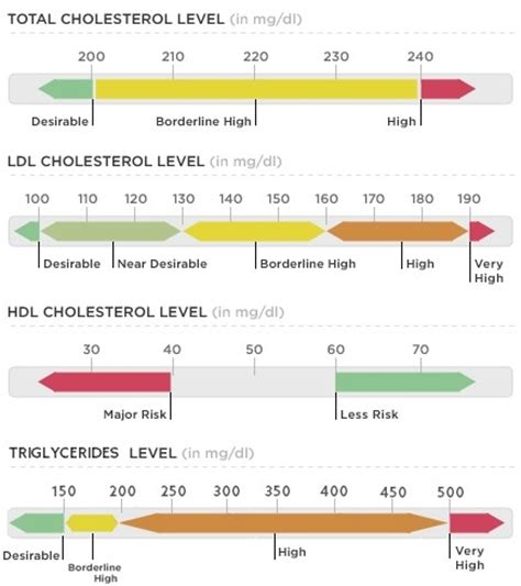 triglycerides level chart cholesterol chart your cholesterol levels ayucar