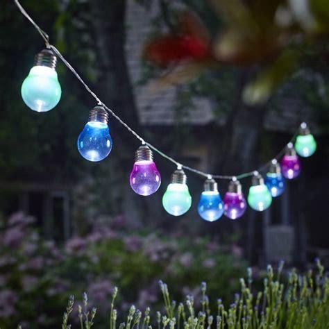 solar lightbulb string lights by garden trading