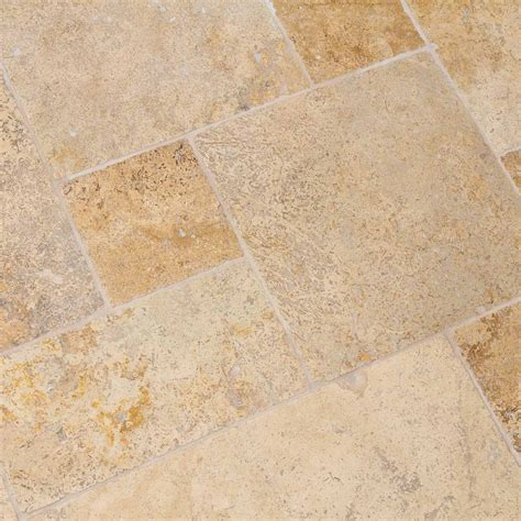 dalles carrelage travertin mix noisette opus indoor by