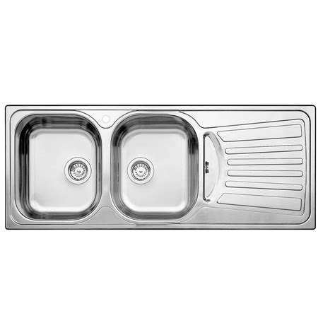 blanco 2 bowl right drainboard topmount stainless steel kitchen sink the home depot canada