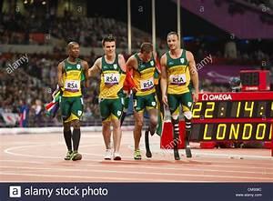 South Africa's men's 4X100 meter T42-44 relay team ...