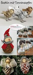 Tannenzapfen Deko Ideen : weihnachtsdeko basteln mit tannenzapfen wundervolle diy bastelideen ~ Markanthonyermac.com Haus und Dekorationen