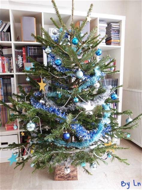 decoration de noel interieur bleu