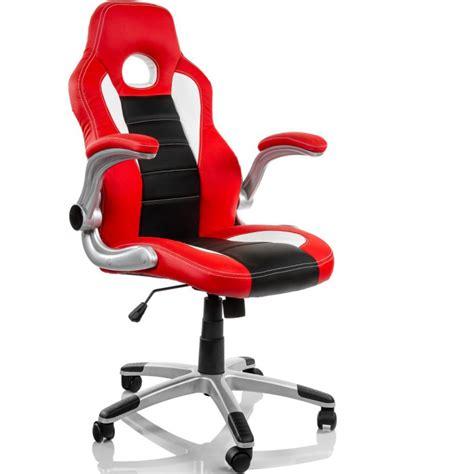 fauteuil de bureau sport racing quot montreal quot noir et blanc