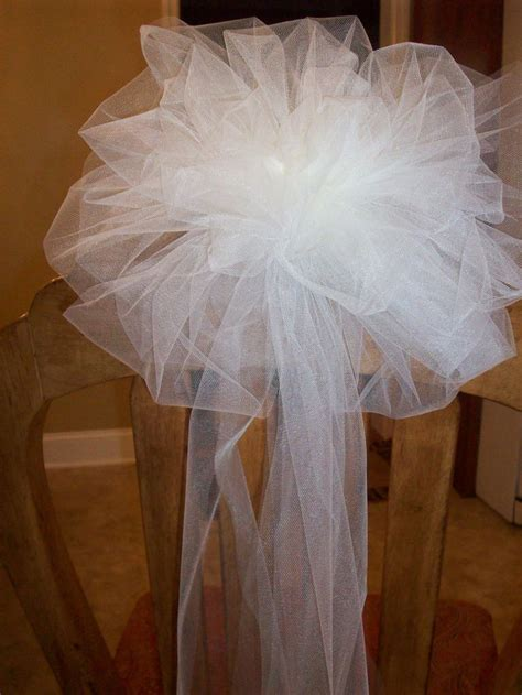 25 best ideas about tulle pew bows on wedding pew decorations pew bows and pew