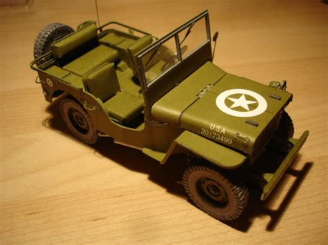 Jeep Willys En Papercraft