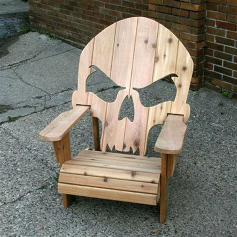 wooden skull chair gadgets news newslocker