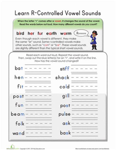 Rcontrolled Vowels  Worksheet Educationcom