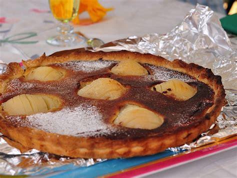 tarte chocolat poire et amandes un accord parfait la recette