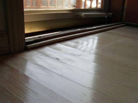 wood floors buckling do not sand