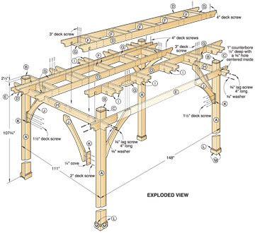 pdf diy simple pergola building plans simple wood carving patterns woodideas
