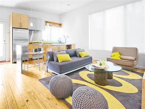 Home Decor Yellow : Copper Home Accents, Yellow And Gray Living Room Decor