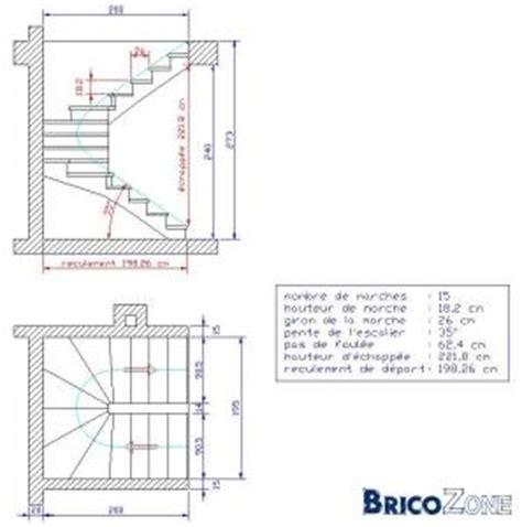 calcul escalier tournant avec palier