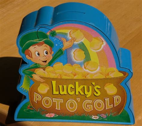 lucky charms pot o gold musical coin bank general mills ebay