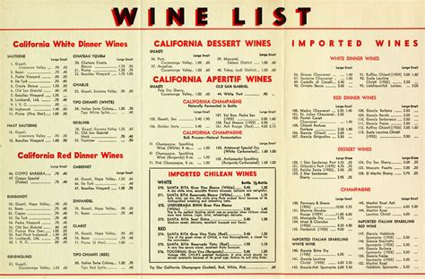r 174 restaurant menu exhibit to live and dine in la tells los angeles s real history