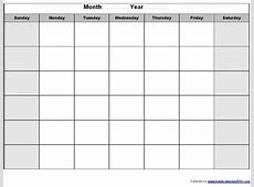Large Blank Monthly Calendar Template Calendar Printable