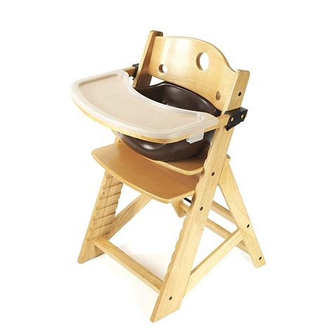keekaroo height right high chair infant insert tray brown n cribs