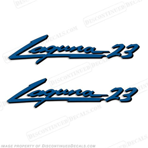 Sea Ray Boats Discontinued by Sea Ray Quot Laguna 23 Quot Boat Decals 2 Color