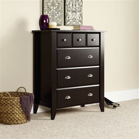 shoal creek dresser jamocha sauder shoal creek 4 drawer chest jamocha walmart