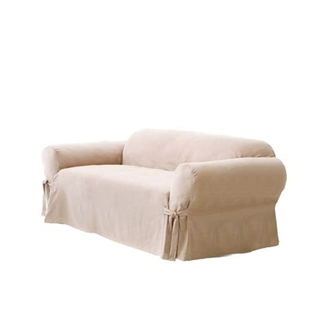 sure fit suede sofa slipcover ebay