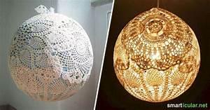 Lampenschirm Basteln Einfach : originelle lampenschirme aus spitzdeckchen selber herstellen ~ Markanthonyermac.com Haus und Dekorationen