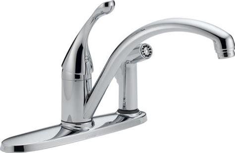 delta 174 collins water efficient 1 handle integral side sprayer kitchen faucet at menards 174