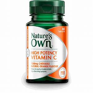 High Potency Nature's Own Vitamin C Natural Orange Flavour ...