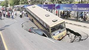 Chennai road caves in, commuters safe | The Indian Express