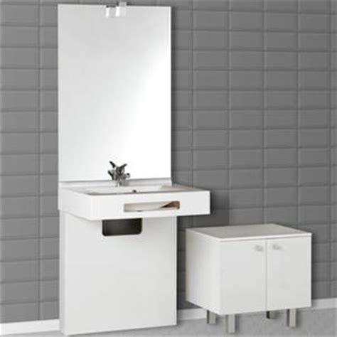 creazur ensemble meuble salle de bain cache tuyau miroir vasque lea