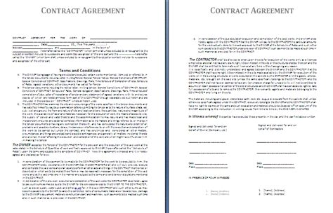 Brilliant Example Of Business Contract Template Between
