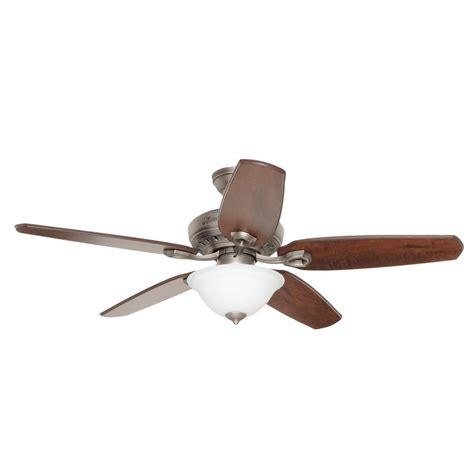 fairhaven 52 in antique pewter indoor ceiling fan with light kit 53031 the home depot