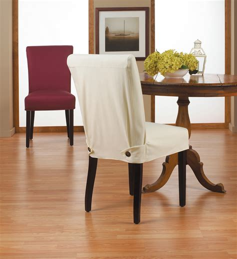 interior brown fabric sure fit dining room chair slip covers with minimalist skirt