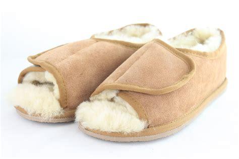 Sheepskin Open by Ladies Open Toed Sheepskin Slippers