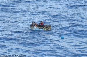 Boat Supplies Nearby by Royal Caribbean Ship Rescues Eight Refugees Fleeing Cuba
