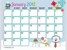 Cute Printable Calendar Frosting & Facials