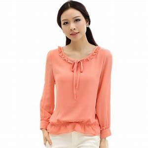Aliexpress.com : Buy Roupas Feminina Ruffled Women Tops ...