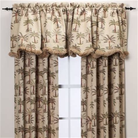palm chenille window curtain panel tropical curtains by bed bath beyond