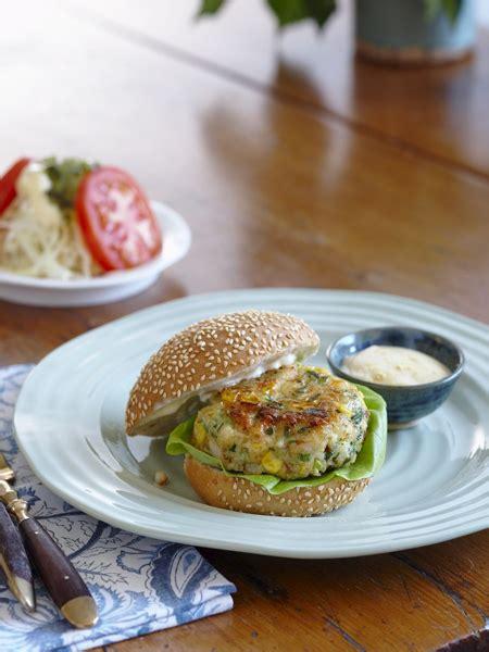 Recette  Hamburgers Aux Crevettes Et Au Maïs Frais  Maison Et Demeure