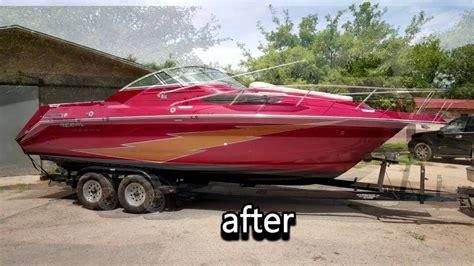 Ski Boat Paint Jobs by Custom Paint Job On My Boat Youtube
