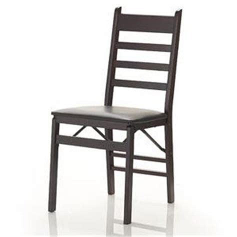 cosco 2 pack wood folding chair with vinyl seat and ladder back espresso cosco http www