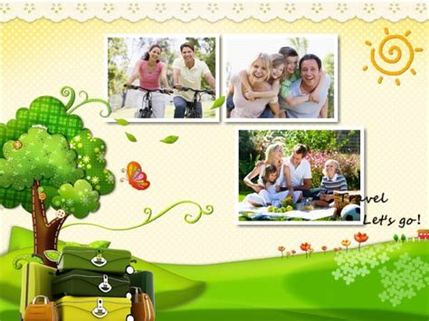 Travel Collage Templates by Travel Collage Card Add On Templates Download Free