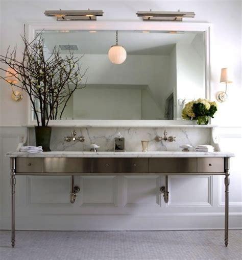 Wrought Iron Bathroom Vanities get the look double bathroom sink vanities artisan