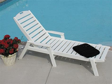 pool furniture supply chaise lounge recycled plastic polywood nautical