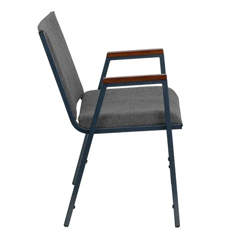 hercules series heavy duty gray fabric stack chair with arms xu 60154 gy gg