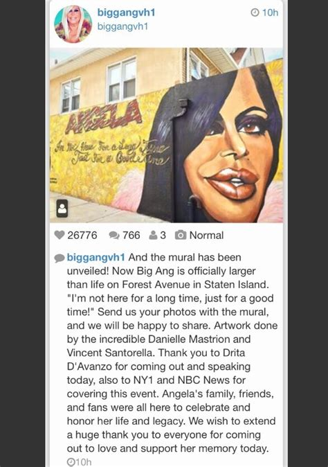 the big ang mural unveiling in staten island the show