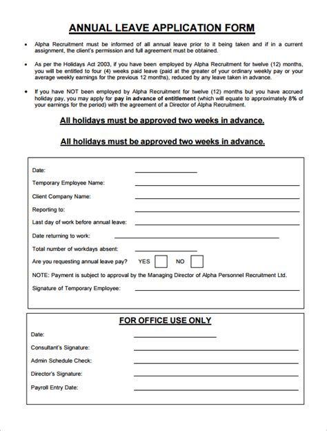 Annual Leave Application Form  Sample Forms. Mla Format Of A Paper Template. Auto Loan Amortization Schedule Extra Payments Excel. 2017 Monthly Calendar Template. Flow Chart Template Excel. Thank You Letter For Donation Of Money Template. Template For Write Up On Employees Template. Blank Ticket Template Word. Microsoft Tri Fold Brochure Template Free Photo