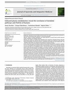 (PDF) Unbiased plasma metabolomics reveal the correlation ...
