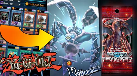 best relinquished deck yugioh duel links world new pack opening